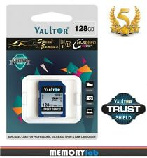 VAULTOR 128GB CLASS 10 UHS-3 U3 EXTREME SPEED SDXC MEMORY CARD - 90MB/s