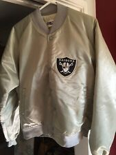 RARE, Hard To Find Vintage CHALK LINE Bold letter RAIDERS Satin Jacket,Sz Large