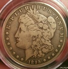 1895 S MORGAN DOLLAR GRADED VG 10 BY PCGS!!!!!CAC CERTIFIED!!!!!