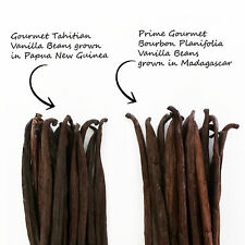 Assortment Vanilla Beans 2 types x 10 beans=20 Madagascar Tahitian FREE SHIPPING