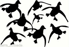 Flying ducks stickers autocollants graphique Wildfowling waterfowl hunting shooting