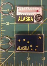 Alaska  Acrylic Keychain - Flag - Compass - Thermometer - great collectible!
