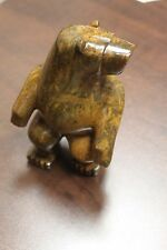"George Bird 2016 Soapstone carving ""Bear"" Signed and dated - Native art"