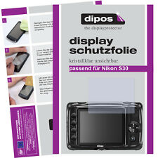 2x Nikon Coolpix S30 screen protector protection guard crystal clear