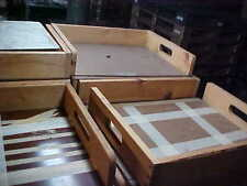 Wooden factory crates