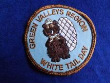 BOY SCOUTS GREEN VALLEYS REGION WHITE TAIL DAY BEAVER VINTAGE PATCH BADGE