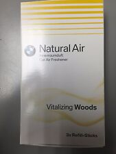 BMW Vitalizing Woods Natural Air Car Freshener Refill 3 sticks 83122285677