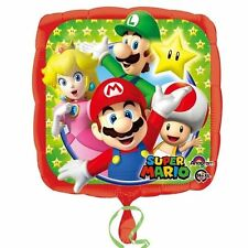Nintendo Super Mario Foil Balloon Birthday Party Wii Computer Square Helium