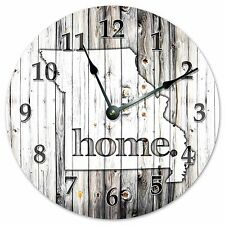 "MISSOURI RUSTIC HOME STATE CLOCK - Large 10.5"" Wall Clock - 2234"