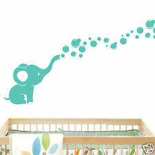Elephant Bubbles Nursery Wall Decal Vinyl Wall Nursery Room Decor - Mint