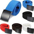 Fashion Mens Casual Canvas Plain Webbing Waist Belt Waistband Unisex Sport Belt