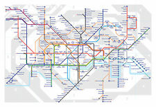 Framed Print - London Underground Tube Map (Picture Poster Modern Art Trains)