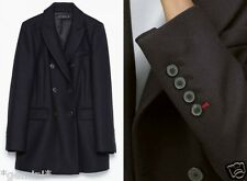 ZARA SIZE L 40 42 WOLLMANTEL JACKE MANTEL Wool Buttoned Double-Breasted Coat