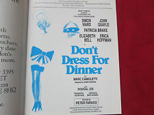Dont Dress for Dinner  APOLLO 1991 Original Multi Signed Programme SEE PICTURES