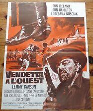 AFFICHE CINEMA VENDETTA A L'OUEST 1968 60 X 80 IRELAND COLUCCI/CALLOWAY WESTERN