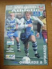 21/04/1998 Wigan Athletic v Walsall  (Creased, Folded).