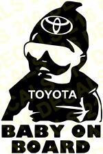 BABY ON BOARD Car Truck  Vinyl Decal Sticker for TOYOTA