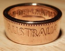 1956 Coin Ring Size R 1/2 - Crafted from an AUSTRALIAN Penny -  PA561608R+