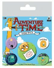 ADVENTURE TIME BRO HUG 5 PACK OF BADGES NEW OFFICIAL MERCHANDISE