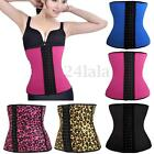 Women Latex Rubber Waist Training Cincher Underbust Corset Steel Boned Shapewear