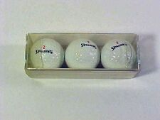 1990 SPALDING *29ish* Sleeve of 3 GOLF BALLS New in Pkg