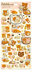 Sanx San-x Rilakkuma Cat Relax Lazy Sticker Sheet stickers kawaii Japan Bear 2