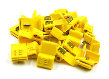50 Pack Yellow Quick Splice Wire Tap Lock Connector Adapter 12-10 Gauge AWG