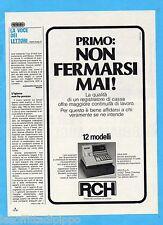 QUATTROR984-PUBBLICITA'/ADVERTISING-1984- RCH - REGISTRATORI DI CASSA