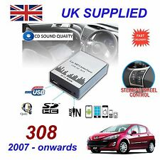 PEUGEOT 308 07-MP3 CARTE SD USB CD AUX adaptateur audio input digital module changeur de cd