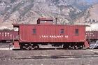 Utah Railway Wood Caboose #60 @ Provo, Utah - Duplicate 35mm Railroad Slide