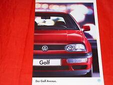"""VW Golf III """"Avenue"""" Sondermodell Prospekt von 1994"""