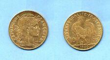 [E] Moneta Oro Francia - 10 franchi - Anno 1900 - Condizioni BB+ - Gold Coin