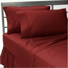 1500 Thread Count Egyptian Cotton Bed Sheet Set 1500 SPLIT KING Burgundy Solid