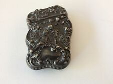 Antique Victorian Unger Bros Cherub Sterling Match Safe Monogram