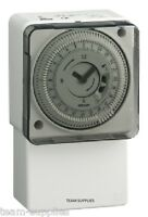 Mechanical Timer Clock 24 hour Timeswitch Lighting Immersion Heating Security GR