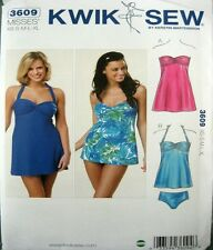 Kwik Sew Sewing Pattern 3609 Swim Dress Briefs Dance Costume