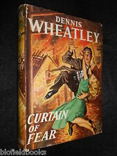 DENNIS WHEATLEY - Curtain of Fear 1953-1st Edition - British Thriller, Hardcover