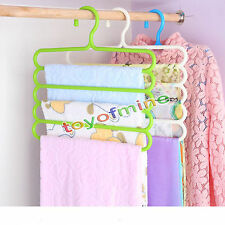 Practical 1pc Multi-Purpose 5 Layers Pants Hanger Trousers Tie Rack Space Saving