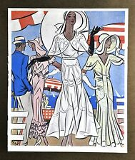 Annie Offterdinger Modezeichnung Fashion Illustration 30x42cm 1930 Art Deco 30er