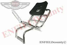 VESPA REAR CARRIER WITH BACKREST CHROME PLATED PX 80 125 200 SCOOTER @AUD