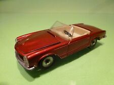 DINKY TOYS FRANCE 516 MERCEDES BENZ 230SL - METALLIC RED 1:43 - GOOD CONDITION