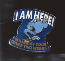 Disney Genie Aladdin I am here! What are your other Two Wishes?  Pin