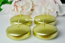 """10 Round Floating Candle Disc Floater Candles Wedding Party Home Decor Gold 3"""""""