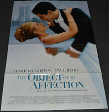 THE OBJECT OF MY AFFECTION 1998 ORIG. DS MOVIE POSTER! JENNIFER ANISTON COMEDY!