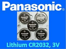 5 pieces Panasonic CR2032 3v, Lithium battery, **Fresh stock**, Ships from USA