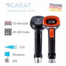 1d 2d QR Barcode Scanner KARATINTL USB Kabel Handscanner 1532 Lager Büro Kasse