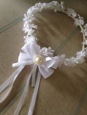 Holy Communion Head Dress . Baptism Head Dress . Girls Holy Communion Head Wear