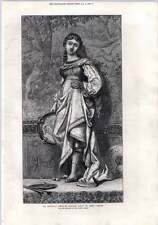 1872 La Regina Avenetian Dancing Girl By Elihu Vedder