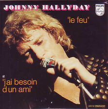 ☆ CD Single Johnny HALLYDAY Le feu ltd ed CARD SLEEVE NEUF ☆