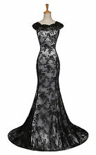 Ladies Mermaid Lace Long Formal Evening Dress Celebrity Party Pageant Prom Gown